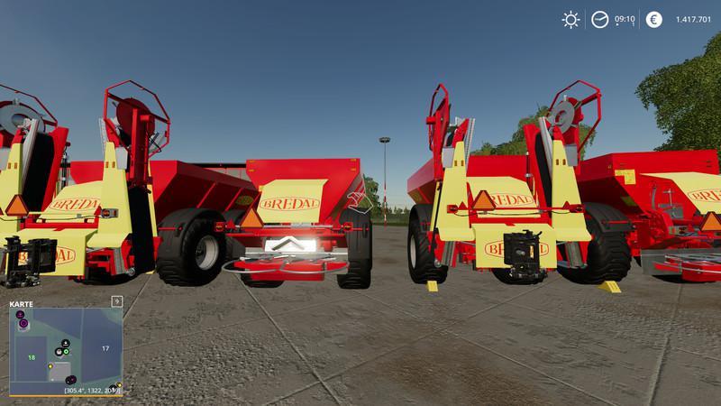 Bredal K105 / K165 with Attacher behind V1.2 for Farming Simulator 2019