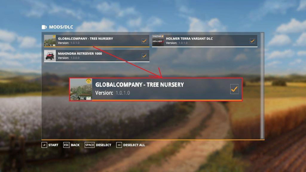 GlobalCompany – Tree Nursery for Farming Simulator 2019