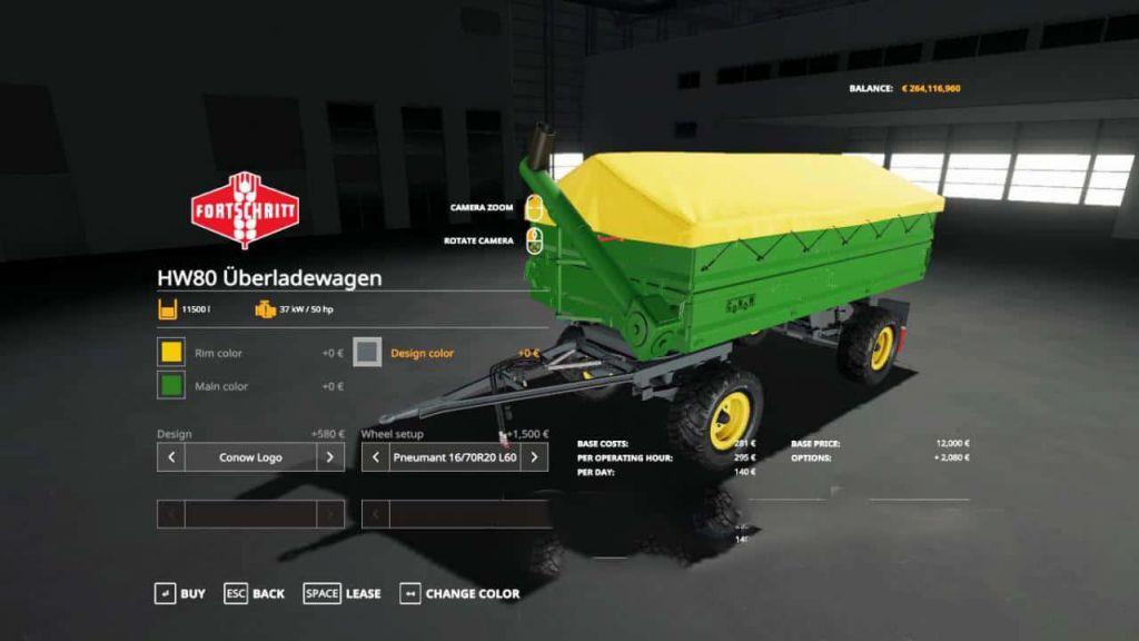 HW80 Uberladewagen for Farming Simulator 2019