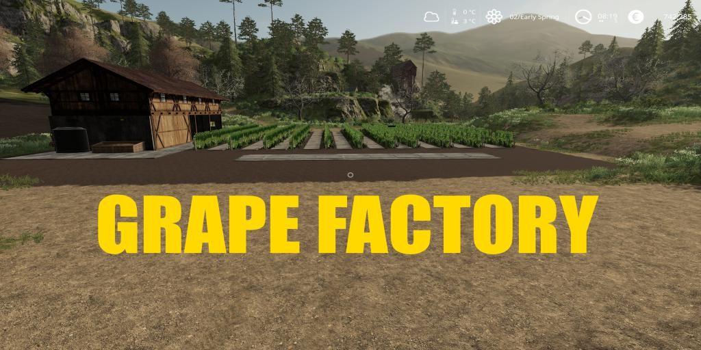 Grape Factory for Farming Simulator 2019