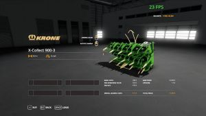 Krone x collect 50 meter for Farming Simulator 2019
