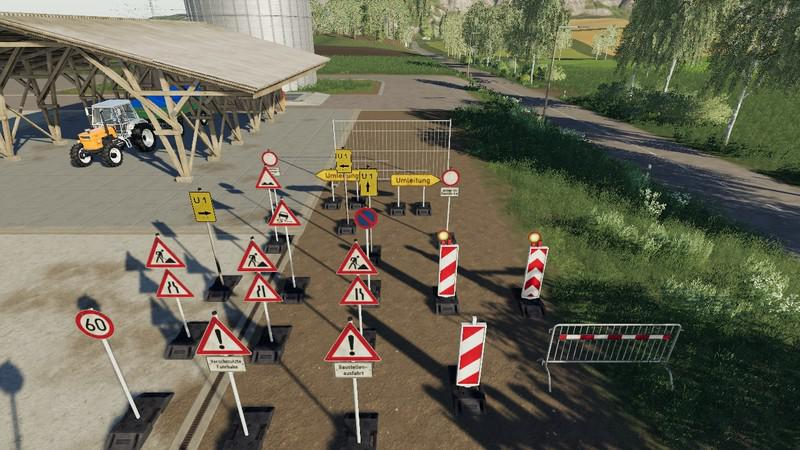 Barrier pack placeable V4.0 for Farming Simulator 2019