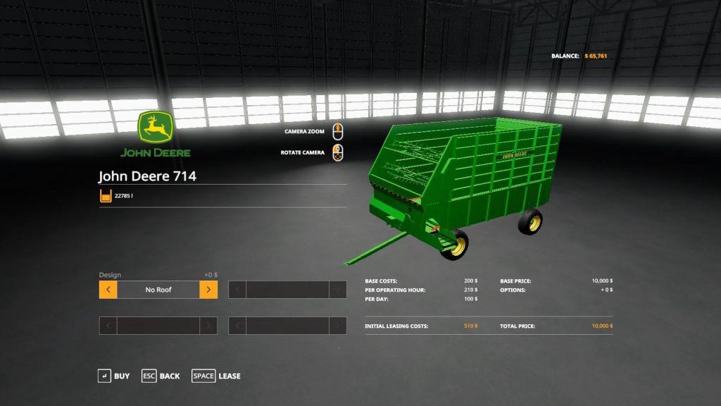 John Deere 714 Forage Box for Farming Simulator 2019