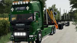 Scania r730 log truck for Farming Simulator 2019
