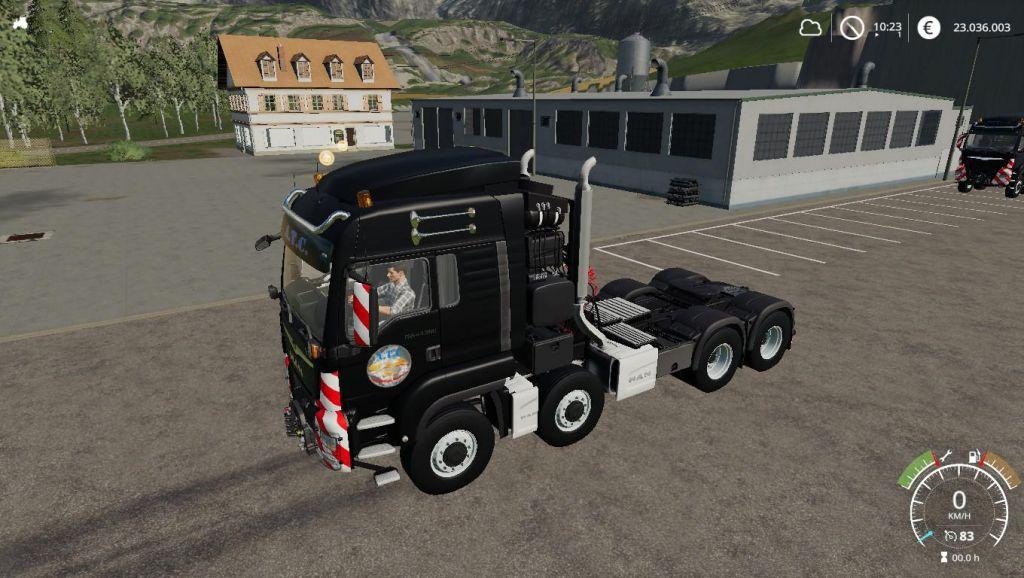 MAN 8×8 SemiHD V1.1.1.0 for Farming Simulator 2019