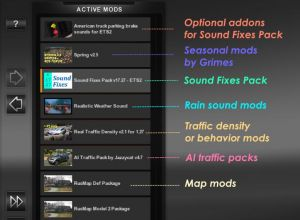 Sound Fixes Pack V19.38 – ATS + ETS2 1.35 2