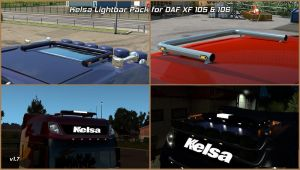Kelsa Lightbars for DAF XF 105 & 106 1.36.x 1