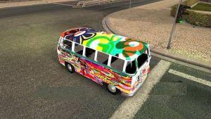 Volkswagen Transporter 2 Hippie In Traffic 1.35 1