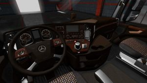 Mercedes Actros Mp4 Lux Wood Interior 1.35.X 2