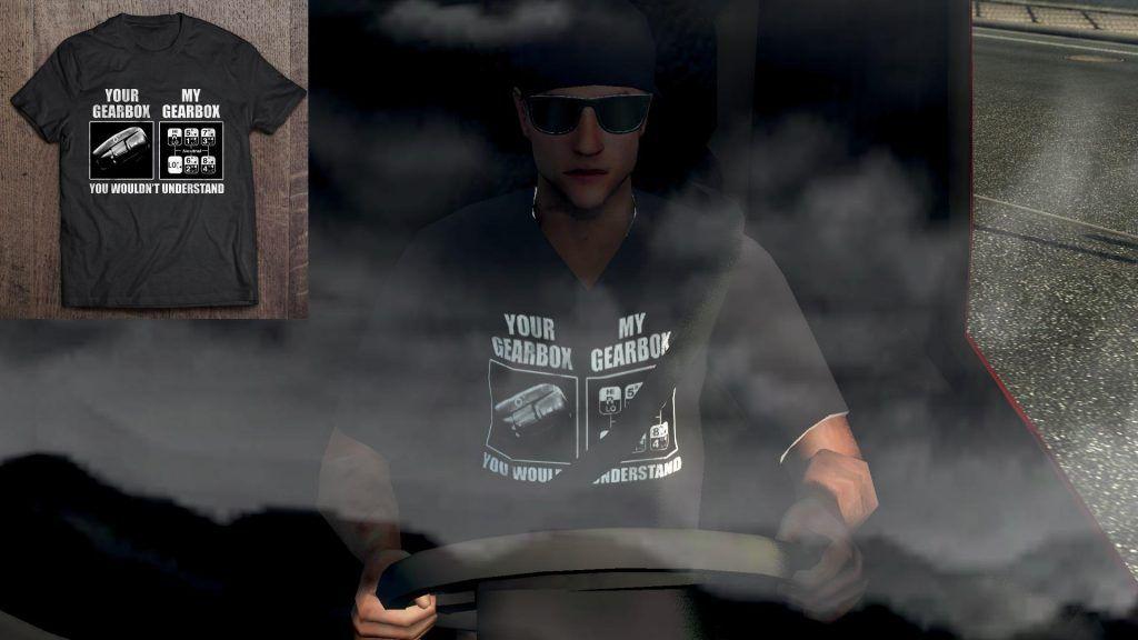Truck Driver Skin – Funny T-Shirt 2