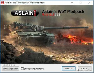[9.22.0.1] Aslain'S Wot Modpack for World of Tanks