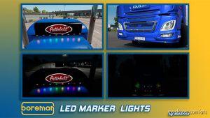 Ats Boreman Led Marker Lights Pack V1.7 [1.35.X] for American Truck Simulator