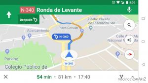 Navigation Voice Of Google Maps In Spanish (Latin) 1.35.X 2