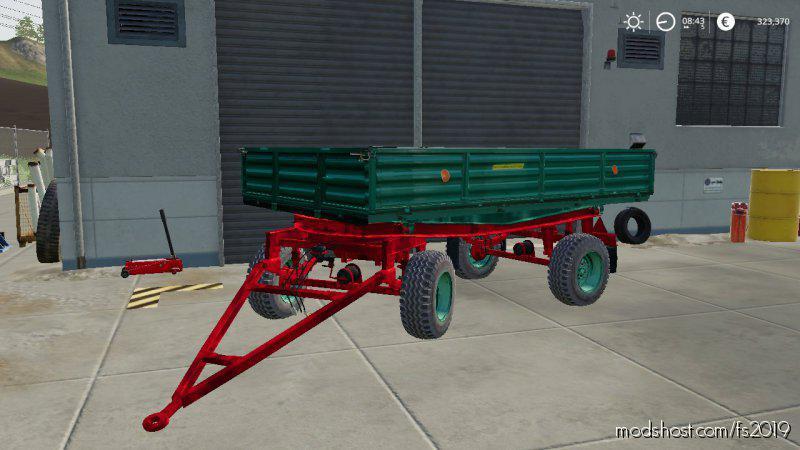 Trailer Autosan D47 Green for Farming Simulator 2019