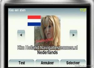 Navigation Voice Of Kim Holland – Tomtom (Dutch) 1.35.X 1