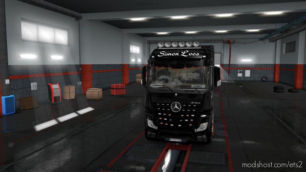 Skins Simon Loos For Mercedes New Actros BV HF Games V1.1 for Euro Truck Simulator 2