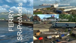 Ferry Connection For Maps: Promods 2.41-Southern Region 7.9 for Euro Truck Simulator 2