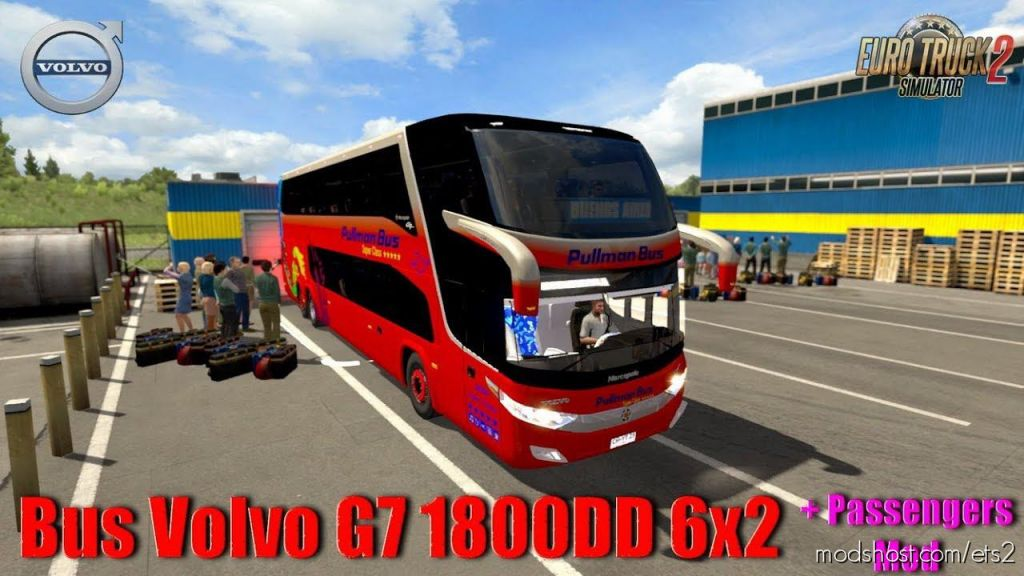Bus Volvo G7 1800Dd 6×2 + Passengers Mod for Euro Truck Simulator 2
