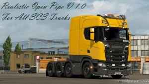 Realistic Open Pipe V 1.7 For All Scs Trucks for Euro Truck Simulator 2