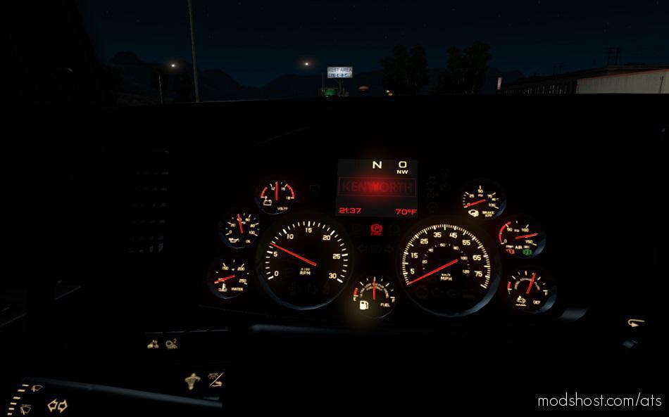 Kenworth T680 Dashboard [1.35.X] for American Truck Simulator