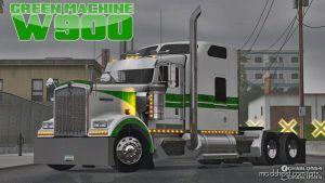 Green Machine W900 Skin for American Truck Simulator