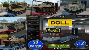Military Addon For Ownable Trailer Doll Panther V1.3.1 for Euro Truck Simulator 2