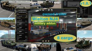 Military Addon For Ownable Trailer Wielton NJ4 V1.5.1 for Euro Truck Simulator 2