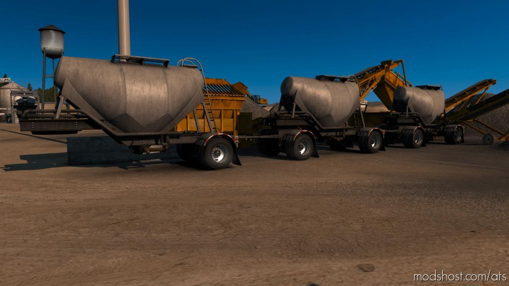 Cement Triple Hopper Mp-Sp Multiplayer Truckersmp for American Truck Simulator