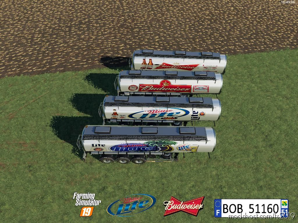 Pack Trailer Beer Us By Bob51160 V1.0.0.8 for Farming Simulator 2019