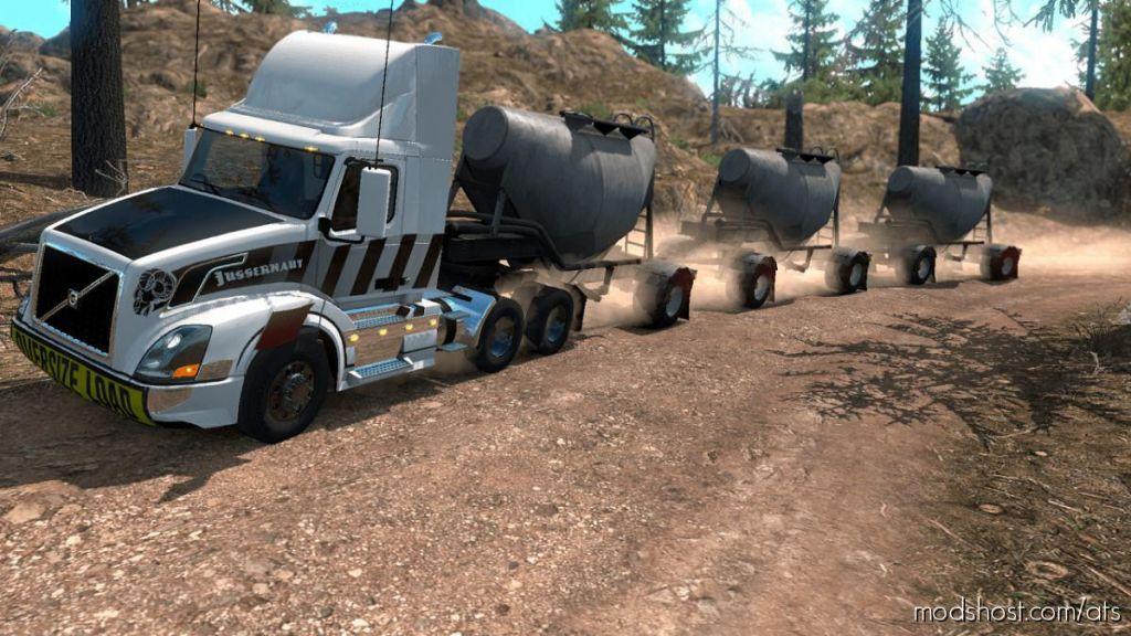 Triple Cement Trailer Mp-Sp Truckersmp Multiplayer 1.34.X for American Truck Simulator