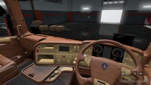 Leather Interior For Rjl Rs And T (5S And Rhd Ready) V2.1 for Euro Truck Simulator 2
