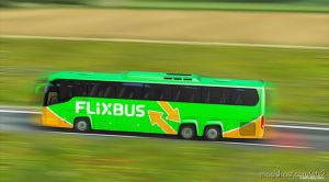 Flixbus Poland For ETS2 1.35.X – Bus Scania Touring for Euro Truck Simulator 2