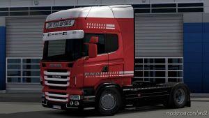 J.p. Vis & Zn. Company Scania Rjl 8K Skin for Euro Truck Simulator 2