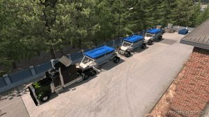 Dump Bottom Triple Mp-Sp Truckersmp Multiplayer 1.34.X for American Truck Simulator