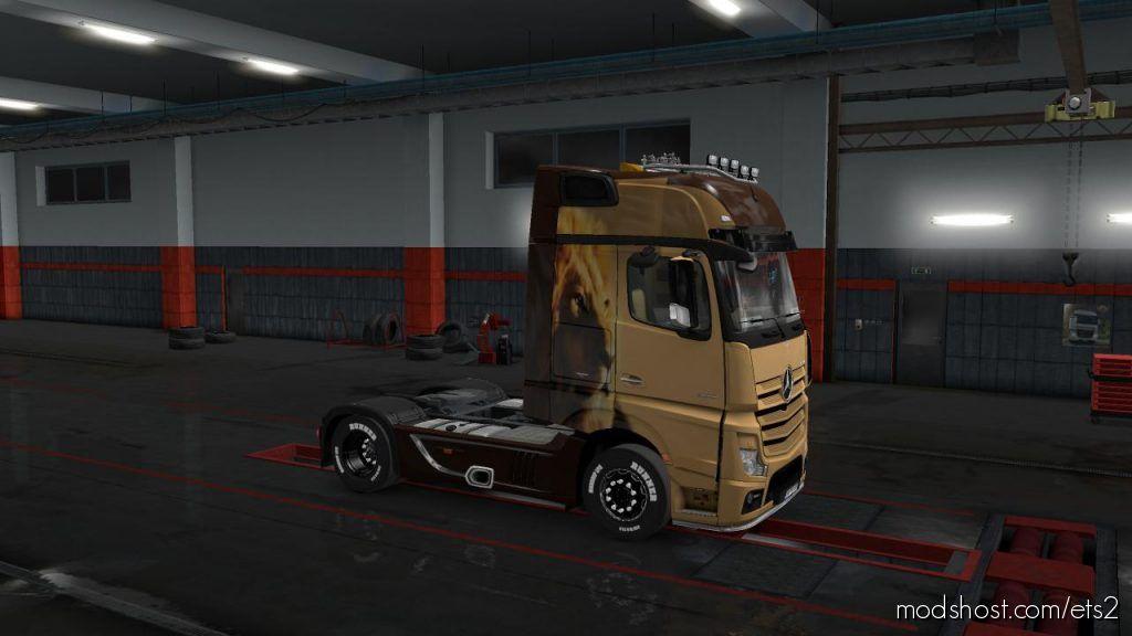 Skins Lion Sad For Mb Qctros Mp4 V1.00.1 Beta for Euro Truck Simulator 2