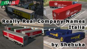 Real Company Names – Italia for Euro Truck Simulator 2
