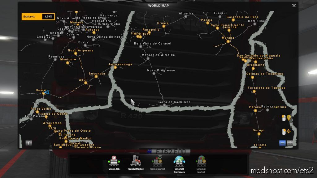 Save Game Profile For Mapa Norte Brasil Ets2 1.35 for Euro Truck Simulator 2