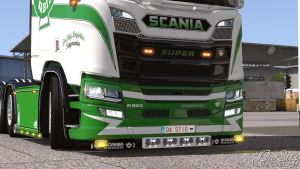 Painted Engine Badges For Scania Next Gen V1.1 for Euro Truck Simulator 2