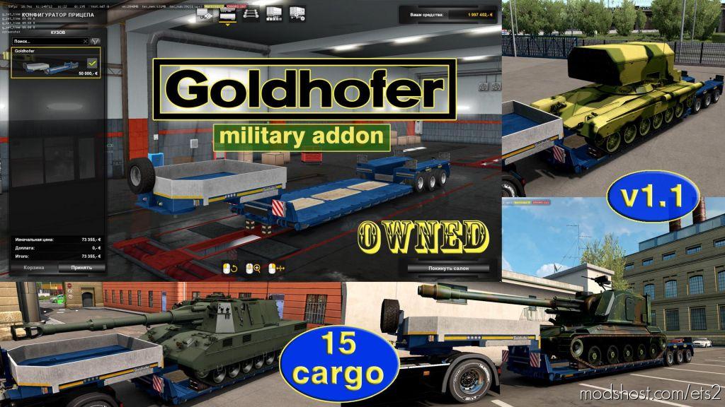Military Addon For Ownable Trailer Goldhofer V1.4.1 for Euro Truck Simulator 2