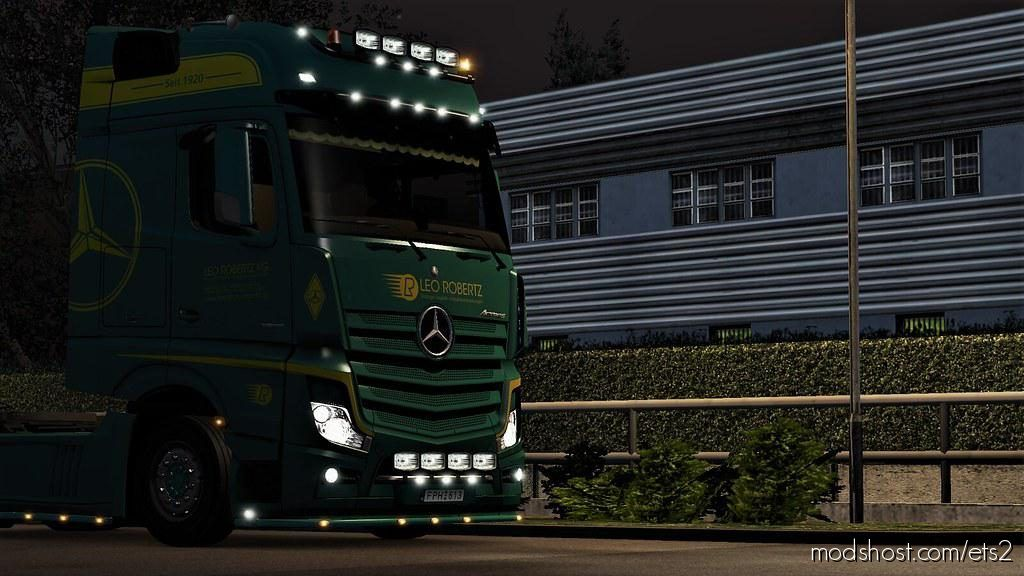 Leo Robertz Skin For Mercedes Actros Mp4 for Euro Truck Simulator 2
