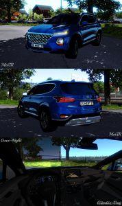 Hyundai Santa Fe 2019 1.35.X for Euro Truck Simulator 2
