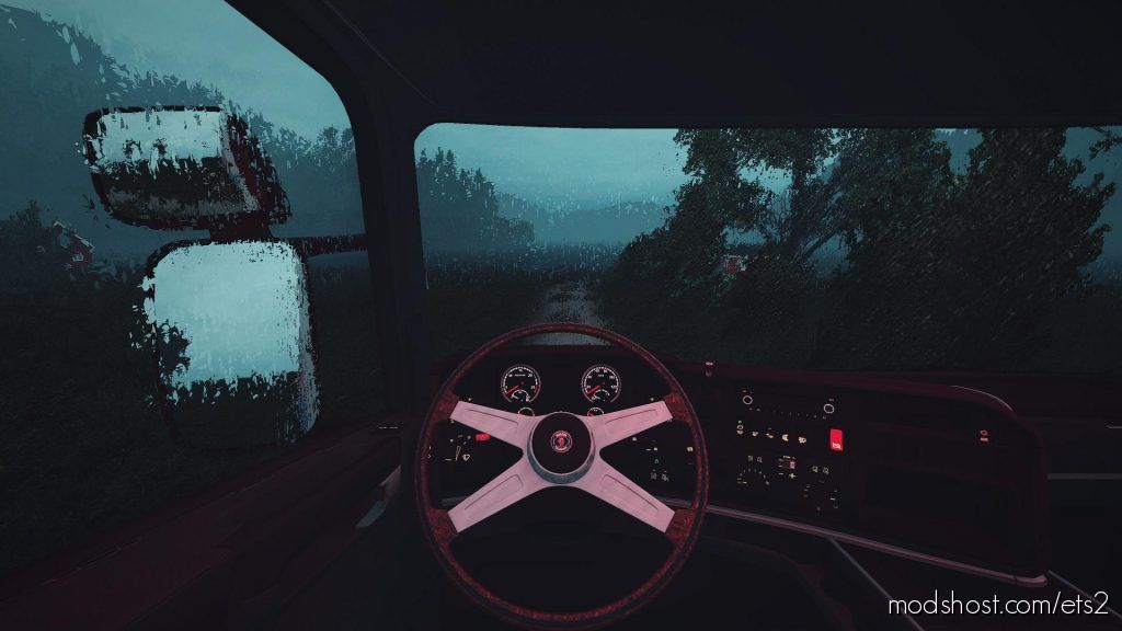 Scania Rjl 4-6 Series Nardi Woods Steering Wheel 1.35 for Euro Truck Simulator 2