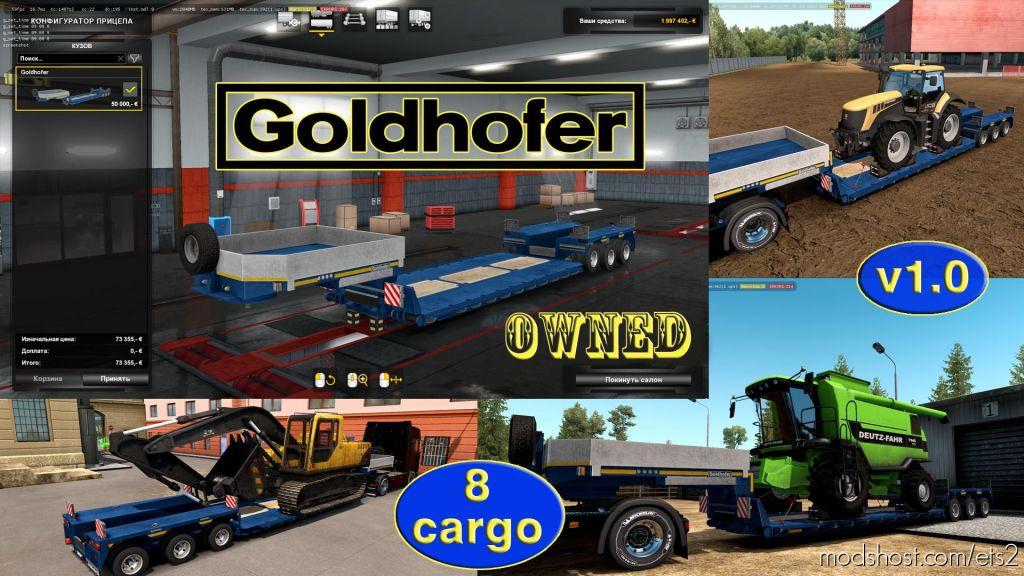 Ownable Overweight Trailer Goldhofer V1.4.1 for Euro Truck Simulator 2
