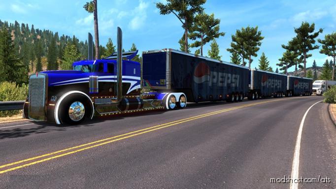 Tripe Trailer Pepsi Cola 1.35.X for American Truck Simulator