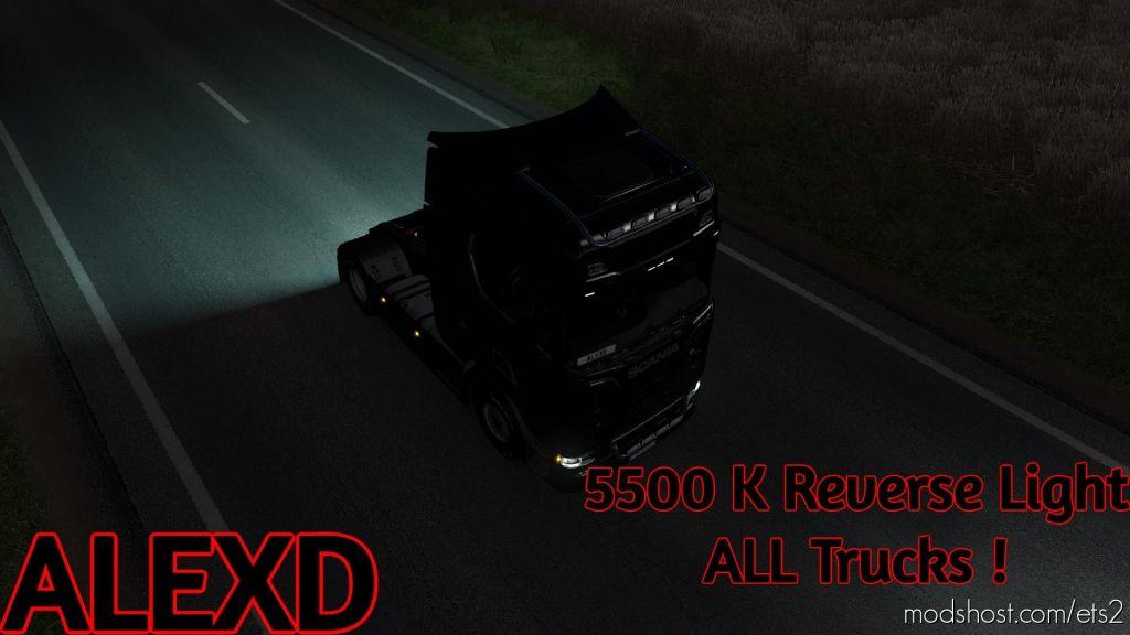 Alexd 5500K Reverse Light V1.3 for Euro Truck Simulator 2