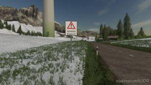 Ice Throw Warning Sign for Farming Simulator 2019