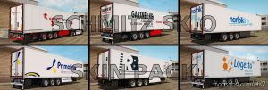 Schmitz Sk.o Skin Pack for Euro Truck Simulator 2