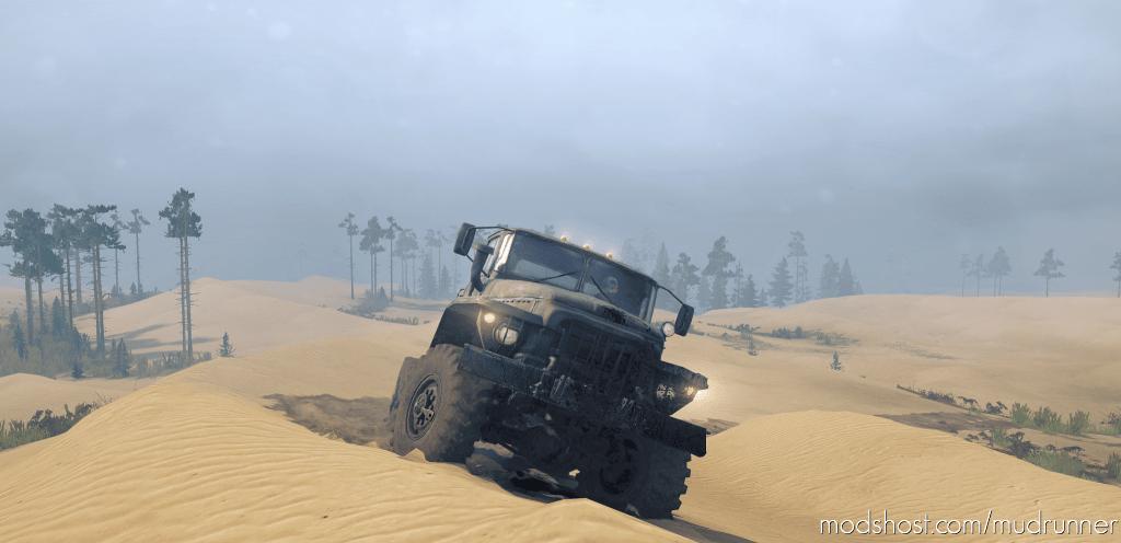 Ural 375D Straight Pipe V8 for MudRunner