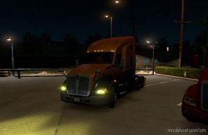 Yellow Xenon Lights For All Trucks for American Truck Simulator