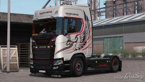 Silver Griffin Skin For Scania Next Gen 1.35 for Euro Truck Simulator 2